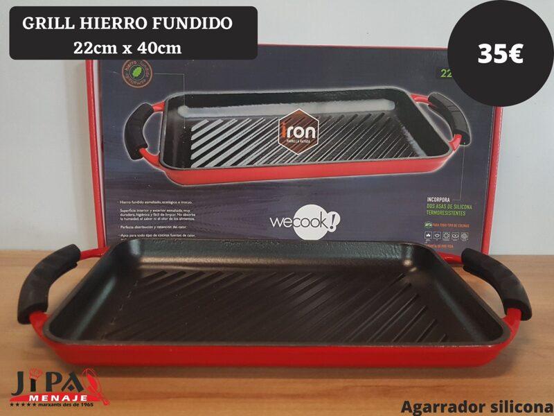 Grill Hierro Fundido 22 cm. X 40 cm.