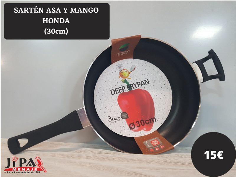 Sartén Asa y Mango Honda 30 cm.